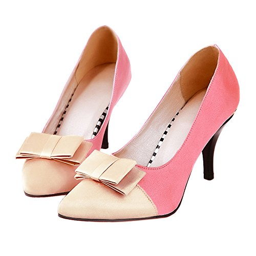 38 Shoes Women Chromatic Thin Heel Sexy Pointed Color pink Bn78f