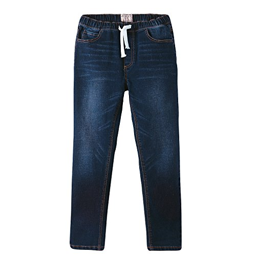Leo&Lily Boys' Big LLB648-BLUE-16, Blue, 16 (The Best Jeans 2019)