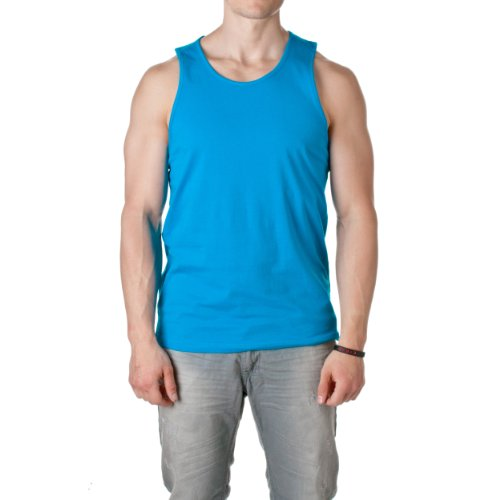 picture of Next Level Men's Comfort SuperSoft Jersey Tank Top. 3633,Medium,Turquoise