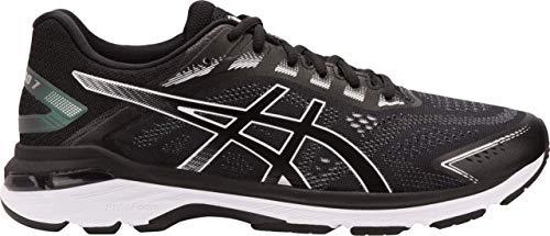 ASICS GT-2000 7 Men's Running Shoes, Black/White, 11.5 4E US