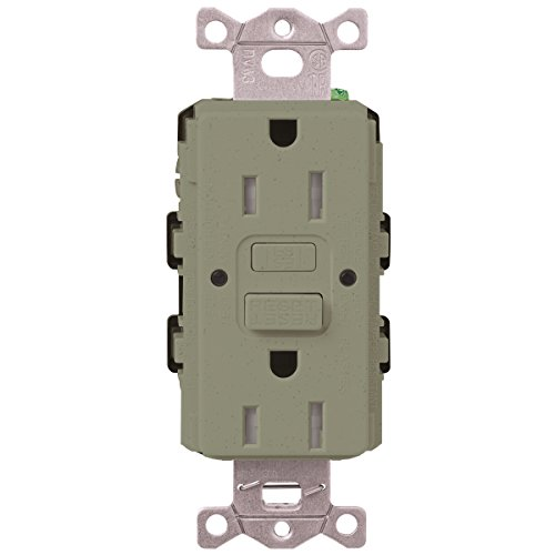 Lutron  SCR-20-GFST-GB  20-Amp  Tamper Resistant Self-Testing Receptacle, Greenbriar -  Lutron Electronics Company, Inc.