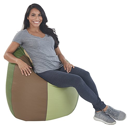 ECR4Kids Dew Drop Bean Bag Chair, Earthtone ()