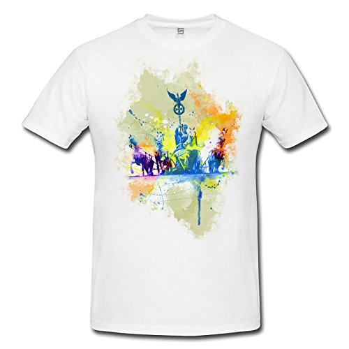 Brandenburger Tor Quadriga Herren T- Shirt , Stylisch aus Paul Sinus Aquarell Color