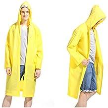 LvDD Raincoat Durable EVA Rain Cape Unisex Men Women Rain Poncho with Hat Hood for Outdoor Travel