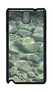 Samsung Note 3 Case material stones water sea 2 PC Custom Samsung Note 3 Case Cover Black