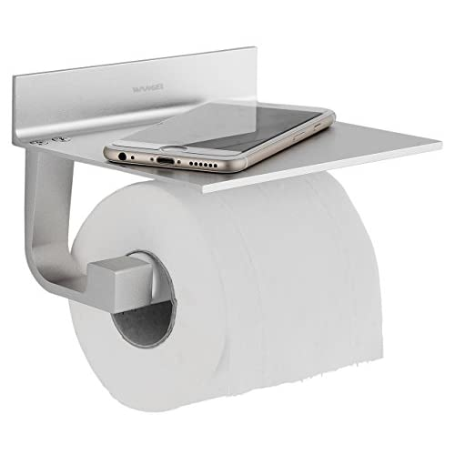 best Wangel Strong Adhesive Toilet Paper Holder, Patented Glue + 3M Self-Adhesive, Aluminum
