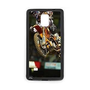 Ktm Kawasaki Honda Dirt Bike Funda Samsung Galaxy Note 4 Funda Caja del teléfono celular Negro U1I1DN3F caja del teléfono Diseño personalizado