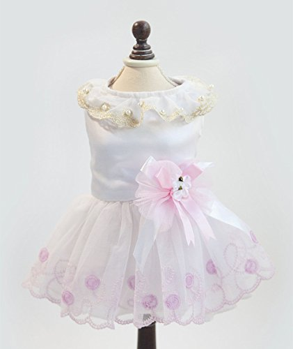 T206 -White XL # Various Cute Pet Dog Cat Party Dress for sale  Delivered anywhere in USA