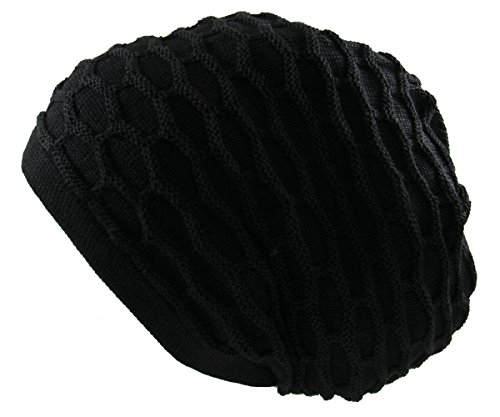 RW Rasta 100% Cotton Dreadlock Beanie (Black)