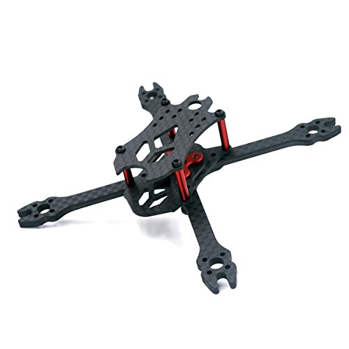 "Usmile 110mm 3mm thickness X Micro Carbon Fiber Quadcopter FPV Frame with Removable arms like VX110 QAV-X 210 QAV-R suit for 1103 1104 1106 brushless motor 2.5"" props RunCam Micro Swift Camera"