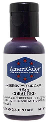 AmeriColor AmeriMist Coral Red Airbrush Food Color, .65 oz