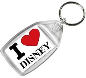 I Love llavero con diseño de Disney de doble cara diseño cumpleaños/regalo de Navidad/calcetín de relleno