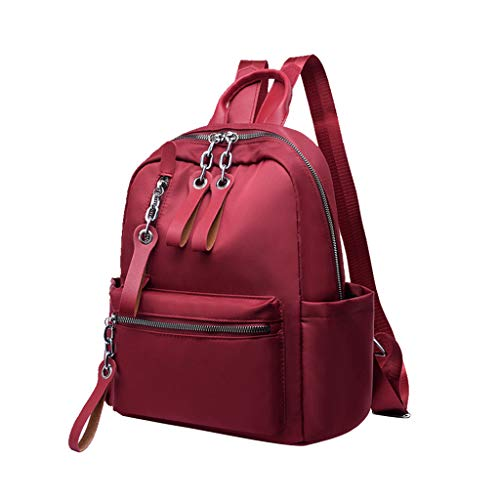 (Handbag,Snowlily Men's Women's Leather Backpack Laptop Satchel Travel School Rucksack Bag)