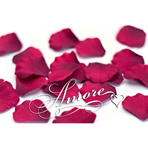 200 Wedding Silk Rose Petals Burgundy 2 inch Wide 32