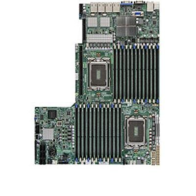 Motherboard Ethernet Supermicro (Supermicro - Socket G34-2 CPUs Supported - AMD SR5690/SP5100 4 x Gigabit Ethernet onboard Graphics Sever Motherboard H8DGU-LN4F+-O)