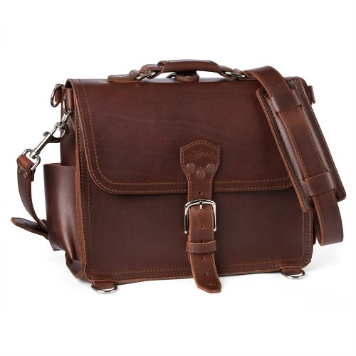 Saddleback Leather Round Satchel Large Chestnut, Bags Central