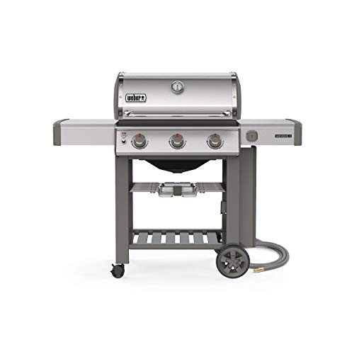 Weber 66001001 Genesis II S-310 NG Gas Grills, Stainless Steel (Weber Grill Propane To Natural Gas Conversion Kit)
