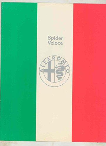 Alfa Romeo 2000 Spider Veloce - 1977 Alfa Romeo 2000 Spider Veloce Brochure