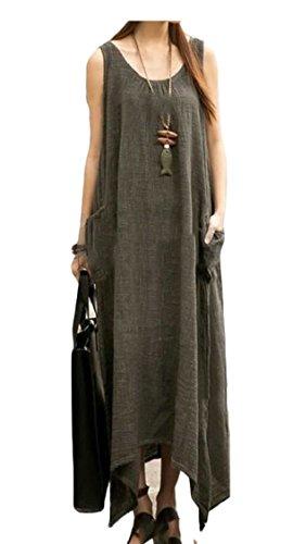 Jaycargogo s 1 Basic Summer Women Dress Long Casual New Cotton rrqUwA