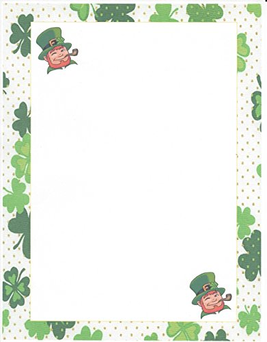 St. Patrick Day Leprechaun Stationery Printer Paper 26 Sheets