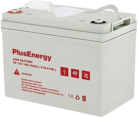 Bateria AGM/GEL PlusEnergy 12V 250AH / 150AH - Ciclo Profundo AGM 150AH
