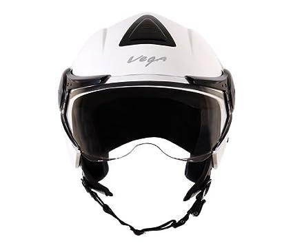 0a4ea49d Vega Verve Open Face Helmet (Women's, White, M): Amazon.in: Car ...