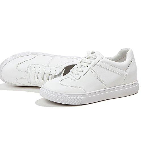 Mujer A Aumentar De NGRDX De De Dentro white Zapatos Suela Blancos amp;G Zapatos Deportivos Zapatos Gruesa Con tpp8qwZ