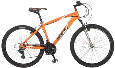 Mongoose Men's Montana Mountain Bike, Matte Orange, Medium