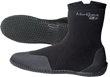 NeoSport Wetsuits Premium Neoprene 7mm Hi Top Zipper Boot, Black, 4 - Water  Shoes