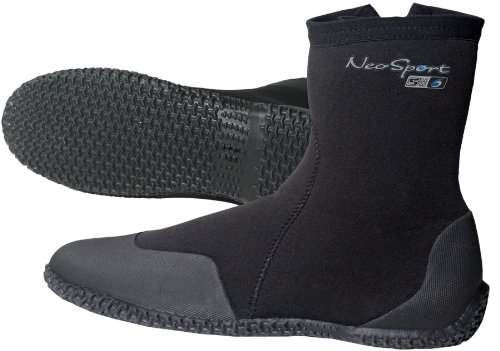 NeoSport Wetsuits Premium Neoprene 7mm Hi Top Zipper Boot, Black, 10 - Water Shoes, Surfing & - Wetsuits 10 Top