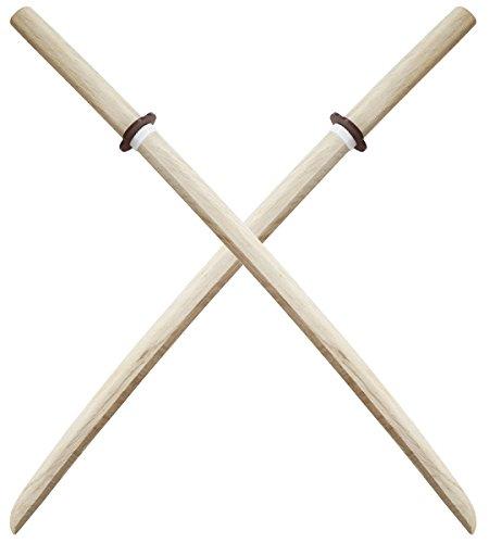 Lot de 2 Bokkens Blanc Haute Qualité Epee en Bois Entrainement Pack Haut de Gamme Arts Martiaux Sabre Master Cutlery