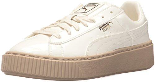 PUMA Women's Basket Platform Sneakers Patent Wn - Marshmallow (Large Image)