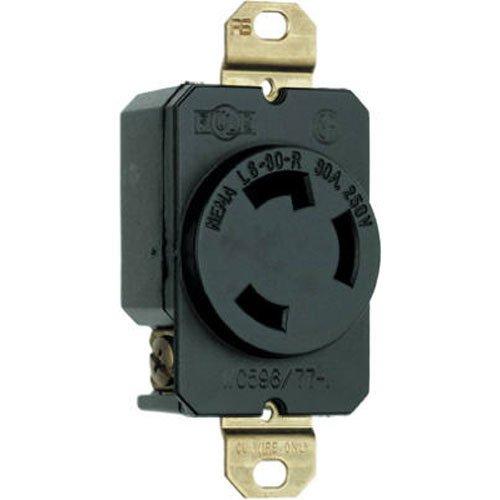 Legrand-Pass & Seymour L630RCCV3 3-Wire Grounding Locking Receptacle 30 Amp 250-Volt, Black by Pass & Seymour