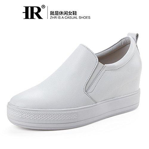 Lefu Zapatos Estudiante Cuero Verano Jurchen Del Estilo Interno Hueco Coreano En Blanco Zapatitos Zapatos De Plataforma Gao B Zapatos Mujeres Casuales vnqgBEHw8B