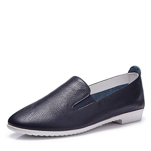 zapatos de moda otoño/Coreano principal fondo plano/Zapatos de mujer casual/Mocasín B
