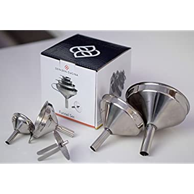 4 Pc. Stainless Steel Funnel Set