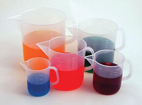 United Scientific 81122 Polypropylene Short Form Pitchers, 1000ml Capacity (Pack of 6)