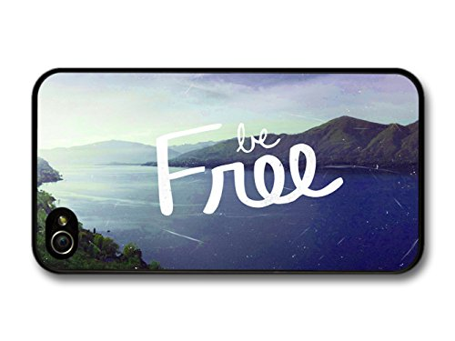 Be Free Life & Love Inspirational Quote Lake coque pour iPhone 4 4S