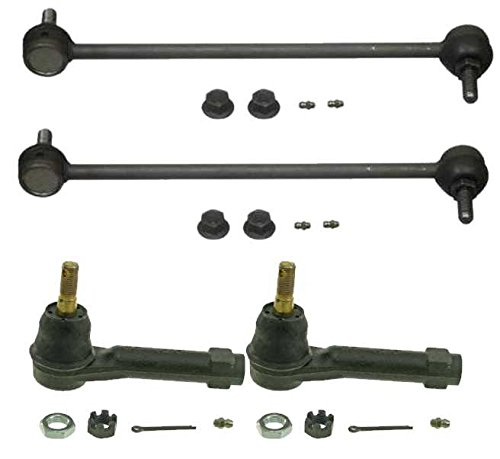 Prime Choice Auto Parts TRK3056-SBK912 Set of 2 Tie Rod Ends and 2 Sway Bar Link Kits