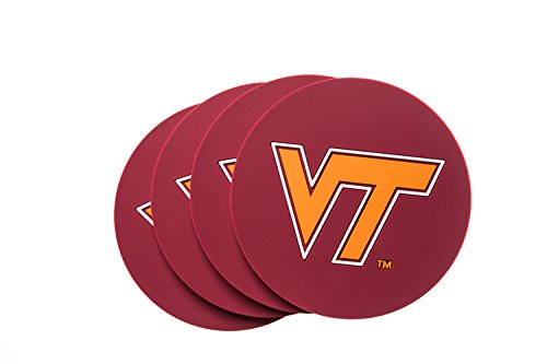 - Virginia TECH Hokies 4-Pack NCAA PVC Coaster