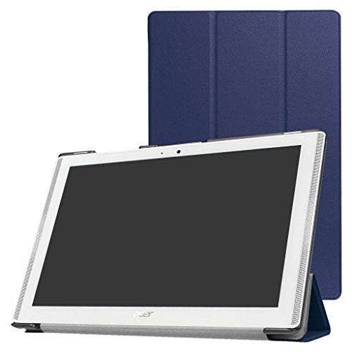 Acer Iconia One 10 B3-A40 / A3-A40 Slim Shell Case,Mama Mouth Ultra Lightweight PU Leather Standing Cover for 10.1