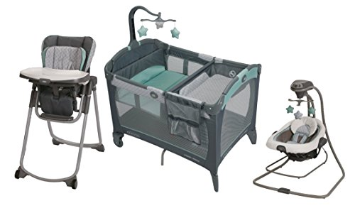 Graco DuetConnect LX Swing & Bouncer + Pack 'N Play Playard with Change 'N Carry Changing Pad + Highchair by Graco