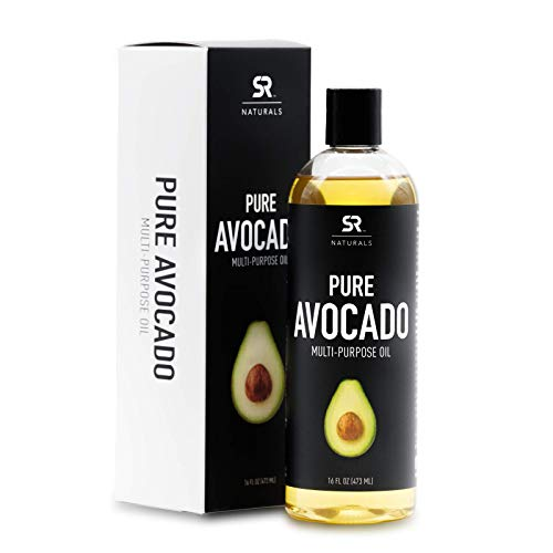 Pure Avocado Oil by SR Naturals ~ Ideal for Skin & Hair Treatments, Aromatherapy, Massage & More! ~ 100% Natural and Non-GMO Verified (Avocado Olive Oil)