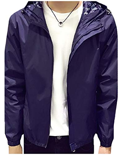 Spring Solid Howme Jersey Fit Relaxed Dark Blue Autumn Juniors Men Jacket 5qqwxtHTB