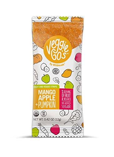 Veggie-Go's Organic Fruit and Veggie Strip, Mango/Apple/Pumpkin, 20 Count