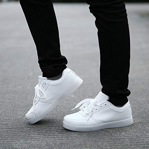 Top Light Casuale Scarpe Yogatada Sneakers Unisex Lampeggiante Lace up Usb Led Low IzwItaq