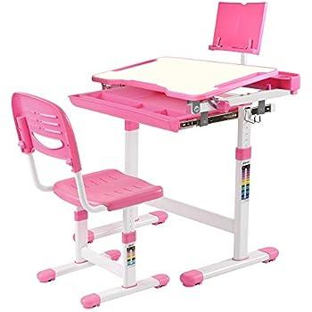 Amazon Com Vivo Height Adjustable Childrens Desk Amp Chair