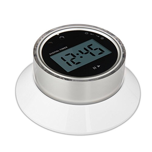 Kitchen Timer EMDMAK Digital Cooking timer with Built-in Magnet Count Down Large LCD Display Lound Alarm Round Shape (Silver)