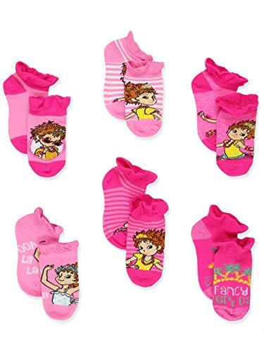 Fancy Nancy Toddler Girls 6 pack Socks (4-6 Toddler (Shoe: 7-10), Pink No Show)