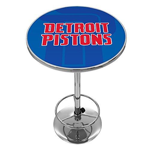 Trademark Gameroom NBA2000-DP2 NBA Chrome Pub Table - Fade - Detroit Pistons